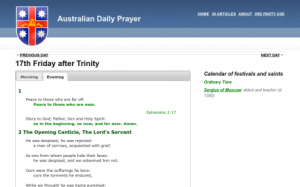 Daily Prayer site
