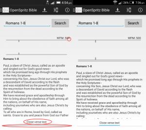 OpenSpritz Bible comaprision